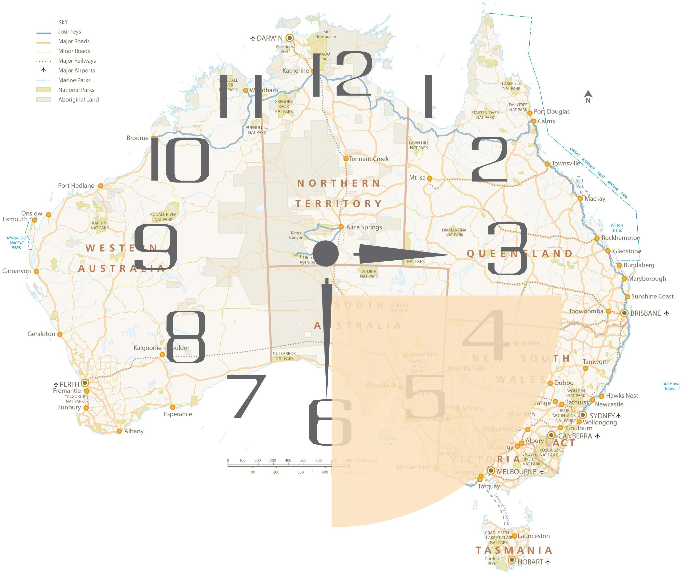 Über Sydney bis Melbourne und Adelaide