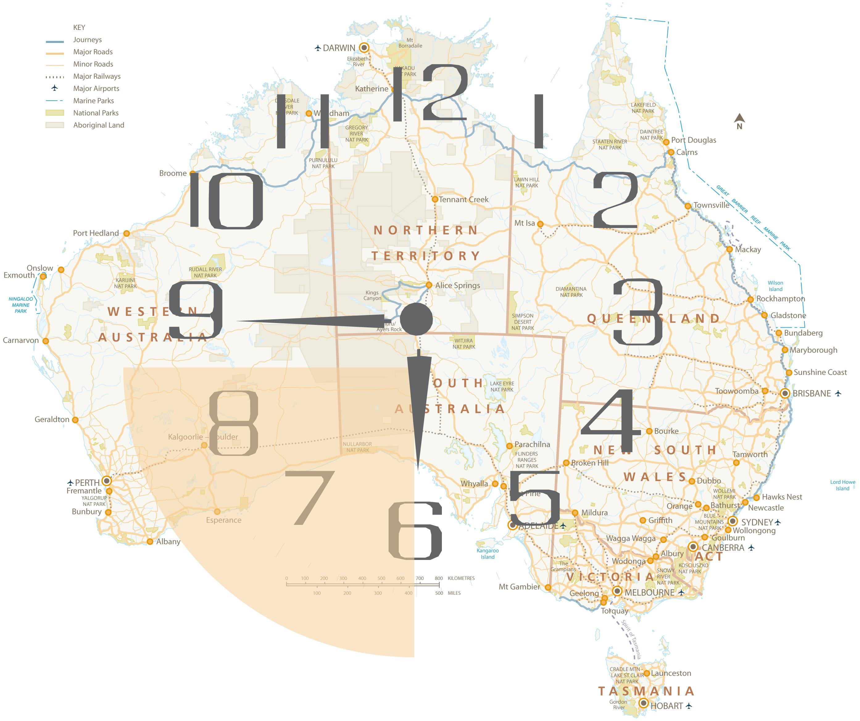 Nach Adelaide entweder in Richtung Rotes Zentrum oder durch die Nullarbor nach Western Australia.