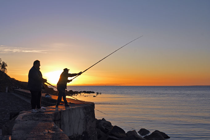Pier Fishing in Australien