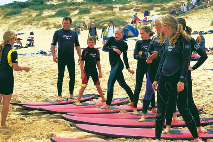Surf School bei Torquay