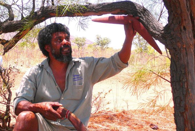Lernen von den Aboriginals in der Natur zu leben