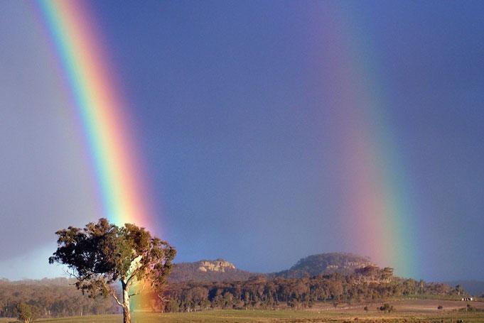 Rainbow im Outback